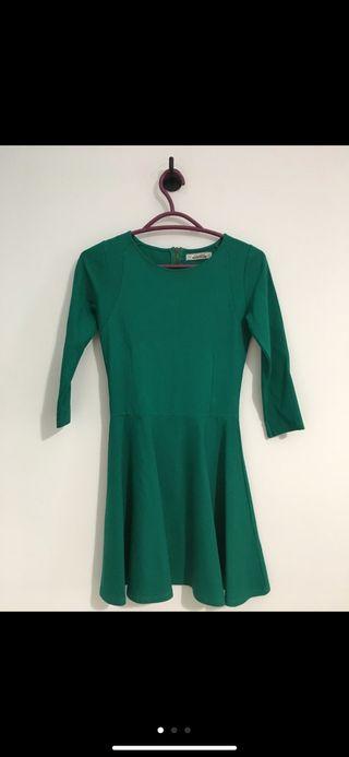 Vestido verde mujer pull&bear talla S