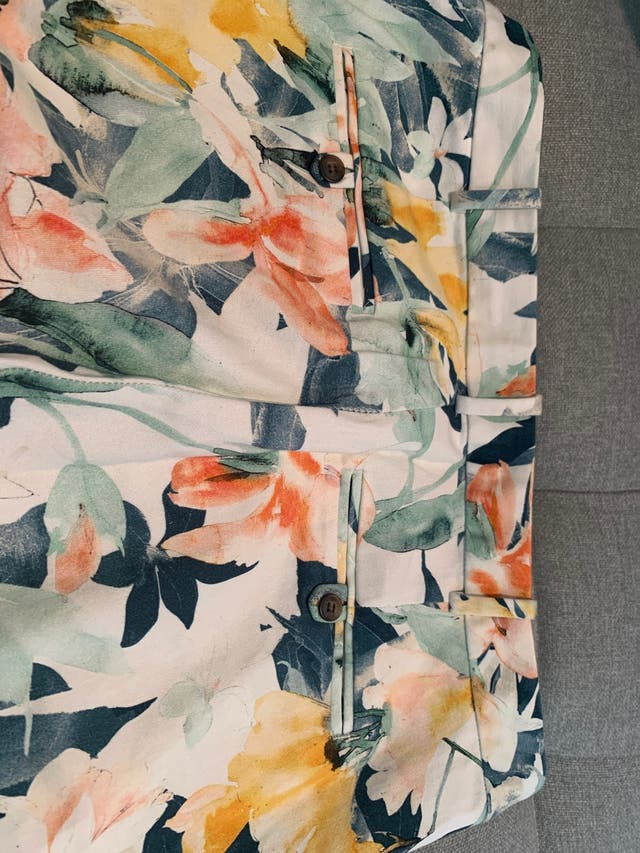 Pantalon Flores, multicolor