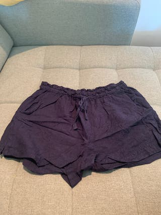 Pantalon corto lino, Oysho