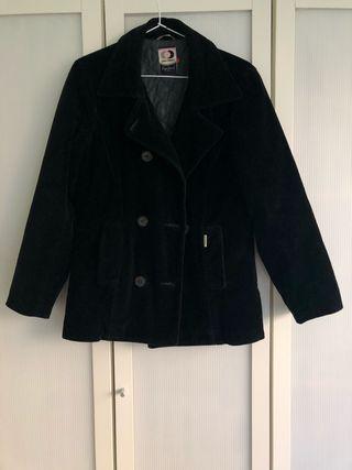 Chaqueta de abrigo de terciopelo negra Pepe Jeans