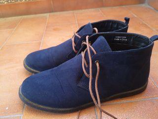 Zapato antelina mujer