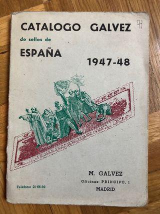 Catálogo sellos Gálvez 1947-48