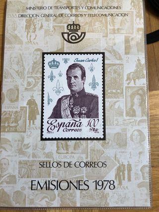Álbum correos emisión sellos 1978 Nuevo