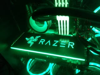 placa trasera gpu RGB (tarjeta grafica) RAZER
