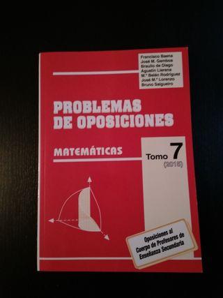 Problemas de Oposiciones.Tomo7(2015) Matemáticas
