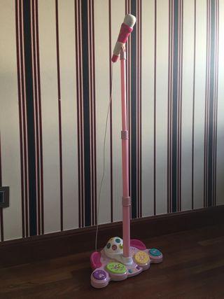 Microfono infantil Juguettos con luces y efectos