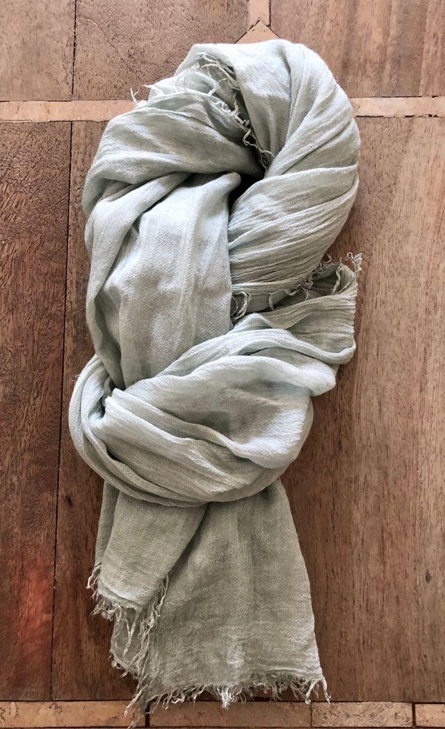 Echarpe foulard paréo vert amande