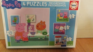 Puzzles progresivos de Peppa pig. Educa.