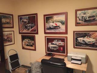 Colección de cuadros y libros del motor