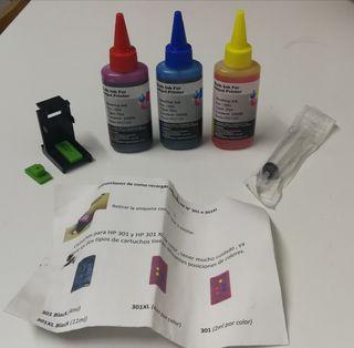 Kit recarga cartuchos tinta impresora