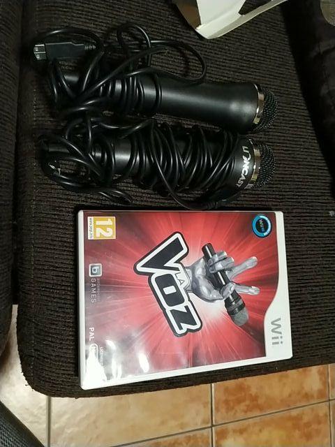 Micrófonos para Karaoke, con juego de la wii u