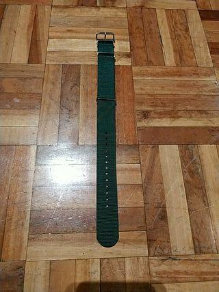 Correa Nato reloj verde