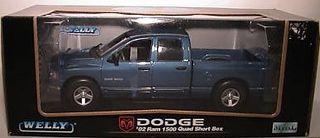 Dodge '02 Ram 1500 Quad Short Box - Welly 1/18
