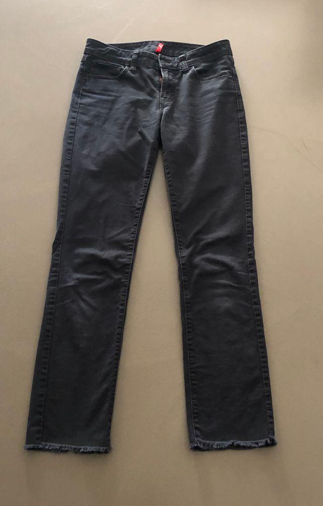 Jeans Noir droit Uniqlo aspect light used T. 36-38