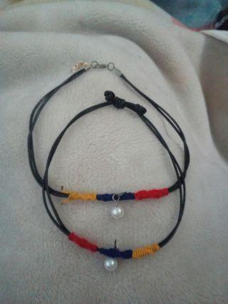 collar y pulseras hippie