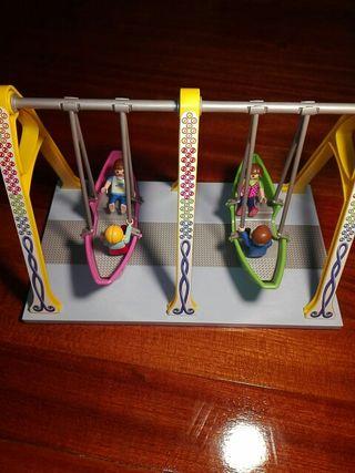 parque de juegos playmobil con barquillas