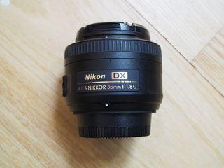 objetivo nikon nikkor af-s dx 35mm f/1.8G