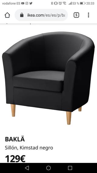 BUTACA IKEA negra SEMINUEVA