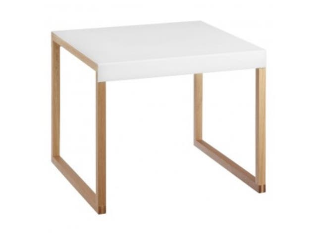 White and oak dining table