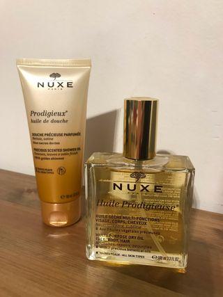 Nuxe Huile Prodigieuse + huile de douche