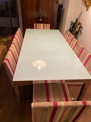 Mesa de comedor 8-12 personas y 8 sillas