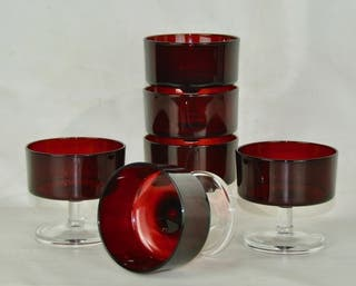 Copas Vintage Roja-Rubi