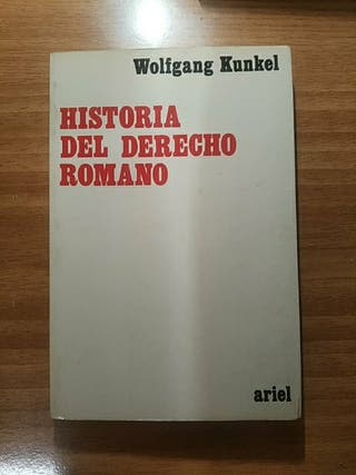 Libro Historia del Derecho Romano KUNKEL
