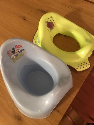 Orinal infantil y adaptador para wc