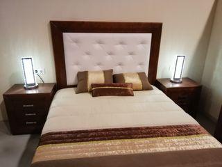 dormitorio color nogal