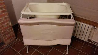 Bañera y cambiador bebé plegable