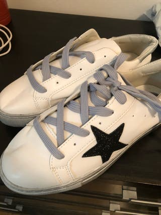 Zapatillas Gold estrella blancas sin estrenar