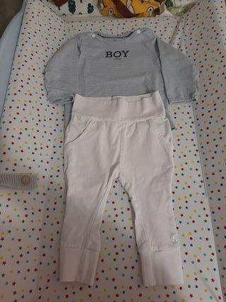conjunto Noppies baby para bebé niño talla 68cm