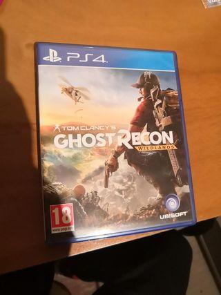 juego ps4- tom clancy's ghost recon wildlands