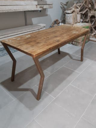 mesa de centro estilo industrial