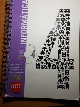 Libro de texto: Informática 4 ESO, editorial SM