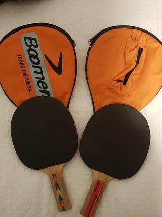 2 palas de ping pong más fundas de regalo