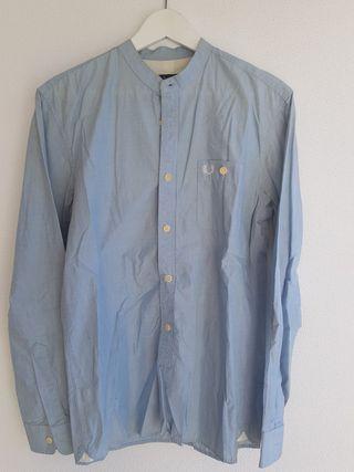 Camisa Fred Perry Cuello Mao Azul Hombre S