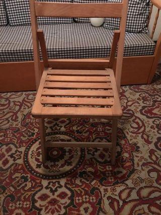 2 Unid Silla plegable madera