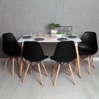 Mesa de comedor o cocina y 4 sillas estilo moderno