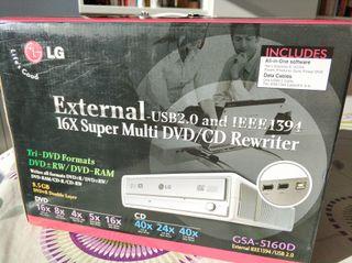Grabadora CD y DVD