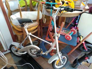 bicicleta patinete plegable
