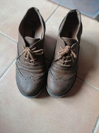 botines zapatos marrones mustang talla 39