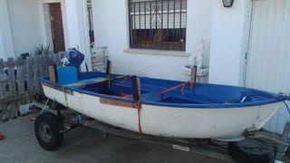 barca de fibra motor 9,9hp