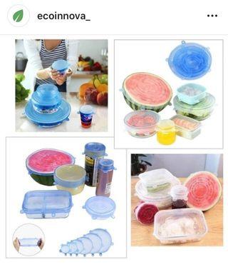 Tapas reutilizables silicona plástico EcoInnova