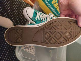 teal converse uk size 9