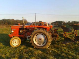 tractor renault super 7 con desbrozadora de 1,10 a