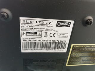 tv monitor led 21,5 pulgadas