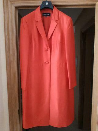 conjunto abrigo más vestido de fiesta