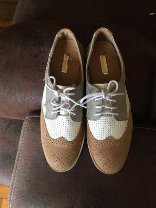 Zapatos de cordones mujer
