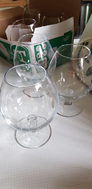 6 copas coñac nuevas HOSTELVIA